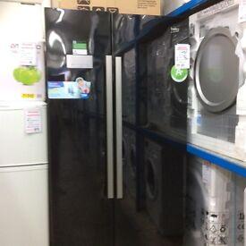 Black Beko American fridge freezer 12 mth gtee £325