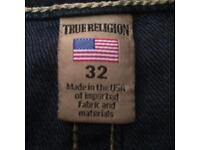 NEW TRUE RELIGION GENTS 32 LONG