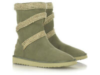 Mou Seagrass Circled Canvas boots Mid MO1