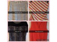 Tops size 14/16