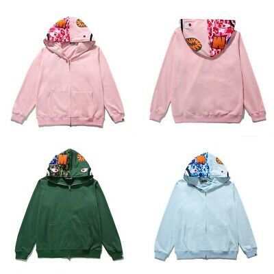 Bathing Ape Shark Head Bape Hoodie Coat Jacket Sweatshirt Thin Long Sleeve