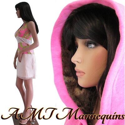 "35/25/35"" hgt: 5ft-10 Female sexy mannequin, dress form manikin -Katie+1wig LY"