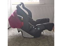 Graco 0+ Car seat cherry (with FREE brand new rain cover)