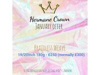 Braidless weave offer