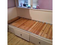 Ikea hemnes single (to king size pull out) day bed