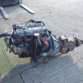 Isuzu 4BA1 2.8 diesel engine and gearbox for Isuzu NKR truck.