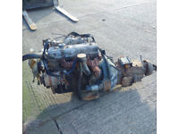 Isuzu 4BA1 2.8 diesel engine and gearbox for Isuzu NKR truck.
