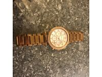 Real rose gold Michael Kors watch
