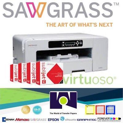 Sawgrass Virtuoso Sg800 Printer Set Ink Cmyk Free Design Studio Free Shipping
