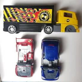 Crash test dummies car and lorry from 1990s