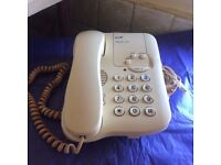 BT RESPONSE 100 CREAM CORDED PHONE & ANSWERING MACHINE- EXC CONDITION + EXTENSION CORD