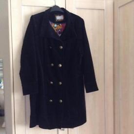 Corduroy 3/4 length coat