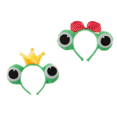 2x Headpiece Cosplay Costume Frog Eyes Christmas Costumes Couple Headdress - Couple Cosplay Costumes