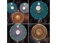 Gorgeous Turkish glass bowls Decor