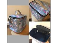 Travel/ Cosmetic/ Toiletries bag cherry blossom print