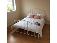 Free double bed frame - John Lewis, damaged