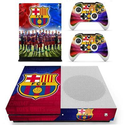 Barcelona FCB Footabll Xbox one S Slim Console Controllers Vinyl Skin Decal...