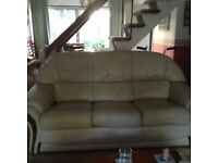 One 3 seater sofa, two electrical reclining arm chairs set.