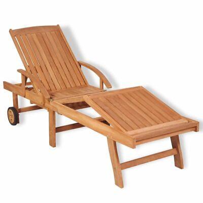 vidaXL Teak Wood Sunlounger Outdoor Garden Patio Daybed Recl