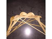 22 wooden hangers