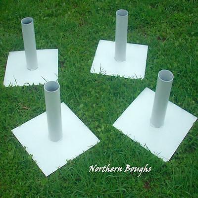 White Birch Wedding Chuppah Stands (4)