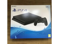 PS4 Black Slim Brand New & Sealed with 12 Months Sony Warranty
