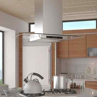 vidaXL Campana Extractora para Isla Cocina con Pantalla LCD Extractor de Humos