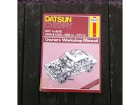Haynes Manual for a Datsun Cherry 1971-1976