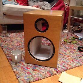 Pair of Custom Speaker Cabinets Studio Monitors Hand Made