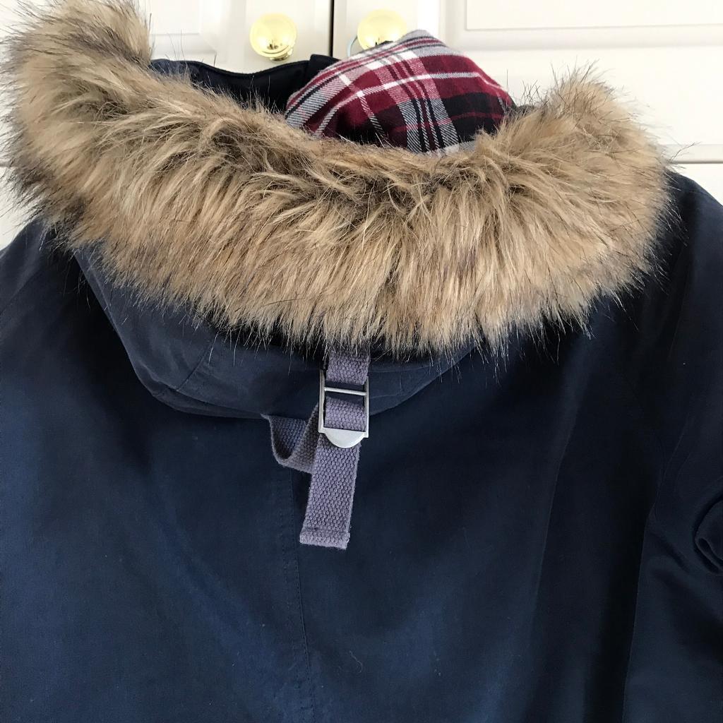 Men's navy blue lacoste puffer coat