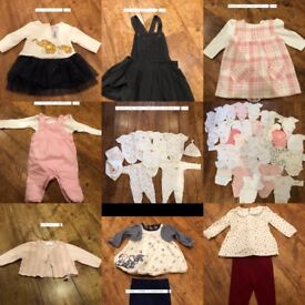 Baby girl clothes newborn/first size & 0-3 months!