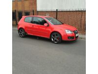 VW Golf gti mk 5 DSG 3 dr in red, fully loaded , ABS ESP PAS