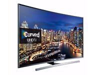 """Samsung 55"""" LED TV Full Smart 4K UHD Ultra Slim Curved design with remote and warranty"""