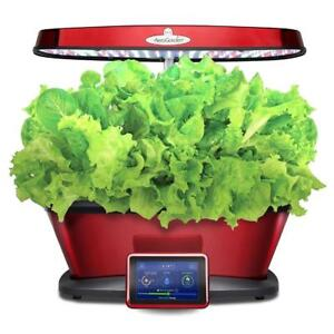 New Miracle-Gro AeroGarden Bounty Elite Wi-Fi with Gourmet Herb Seed Pod Kit, Red