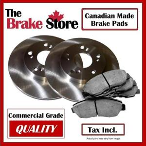 Toyota Corolla 2009 - 2016 Front Brake Pads and Rotors Kit Canadian Made Brake Pads
