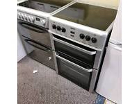 Black and silver ceramic top cooker