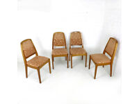 Set of 4 PARKER KNOLL Dining Chairs Vintage/Retro/Mid Century