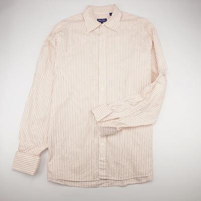 SEAN JEAN Button Front Dress Shirt French Cuffs Striped Mens 17.5/38-39 Tall