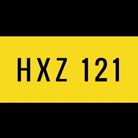 HXZ 121 Cherished Number Plate