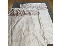 Neutral cream/ gold eyelet curtains from Dunelm size 228cm x 182cm