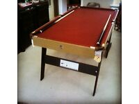 Pool table fold away 6 foot