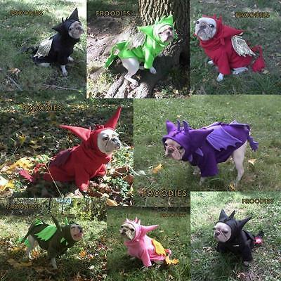 French Bulldog Boston Pug Dog Froodies Hoodies Halloween Costume Cosplay Dragon