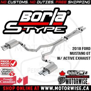 10% OFF Borla S-Type Active Catback Exhaust System | 2018 Ford Mustang GT | Shop & Order Online at www.motorwise.ca