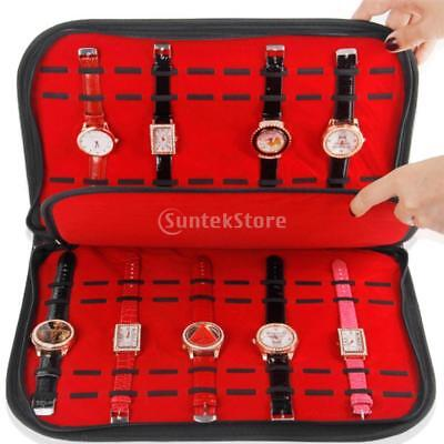 20 Slots Watch Display Box Storage Case Bag Holder Organizer for Home Shop
