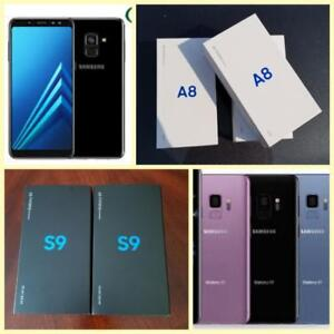 Brand New Samsung Galaxy A8 2018($450)/S9($750)/S9 Plus($900), Note8($850), Unlocked, Canadian*Freedom/Bell/Rogers/Telus