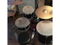 Cb Drums drum kit (Remo skins and Sabin/paiste cymbals)