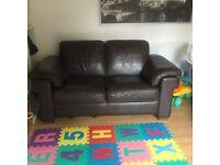 2 Seata leather sofa