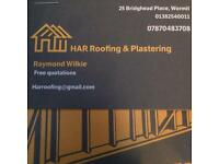 Roofing and plasterer