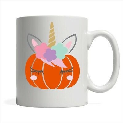Halloween Pumpkin Unicorn Coffee White Mug