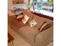 Used large brown sofa